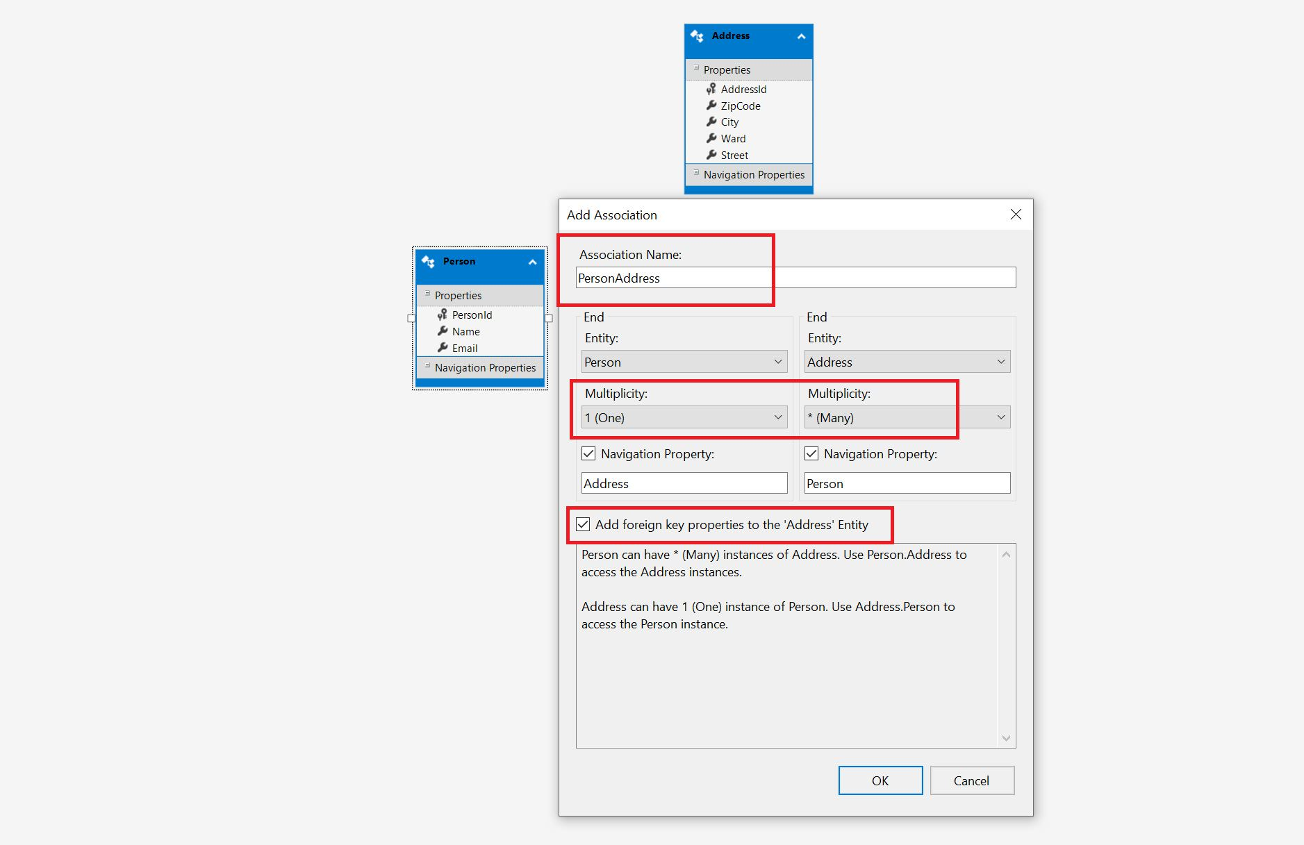 Entity Framework Model Fisrt Approach - Creating edmx Step 16